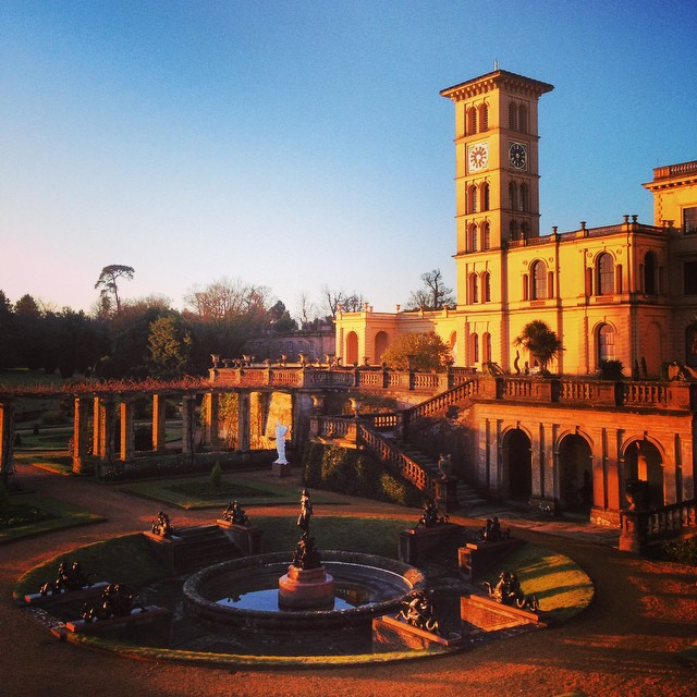 Osborne House at sunrise #Englishheritage #osbornehouse #gardenphotography #sunrise