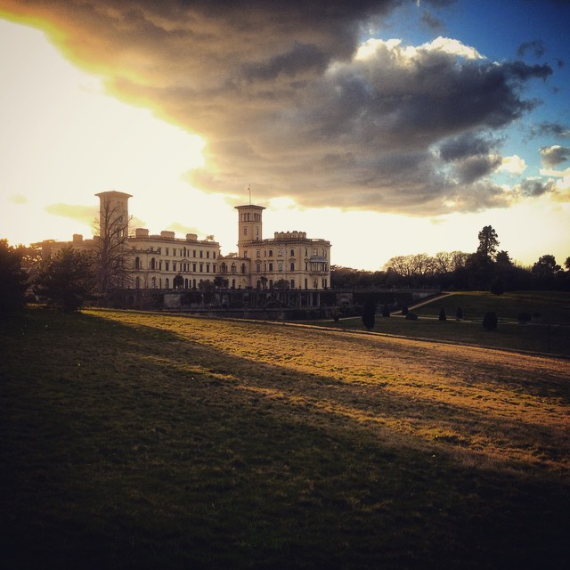 Last light at Osborne House #Englishheritage #osbornehouse #gardenphotography