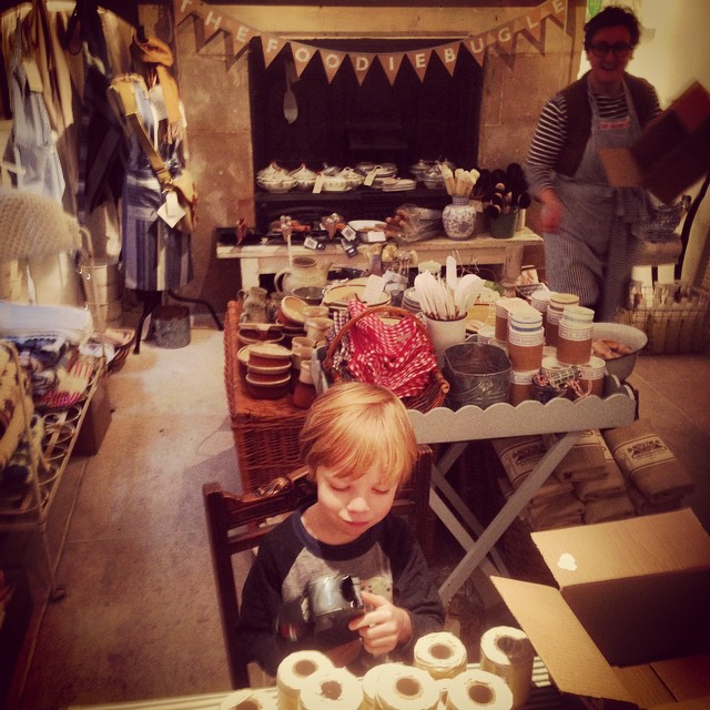 And you made a small Hal very happy helping in your shop today @thefoodiebugle X