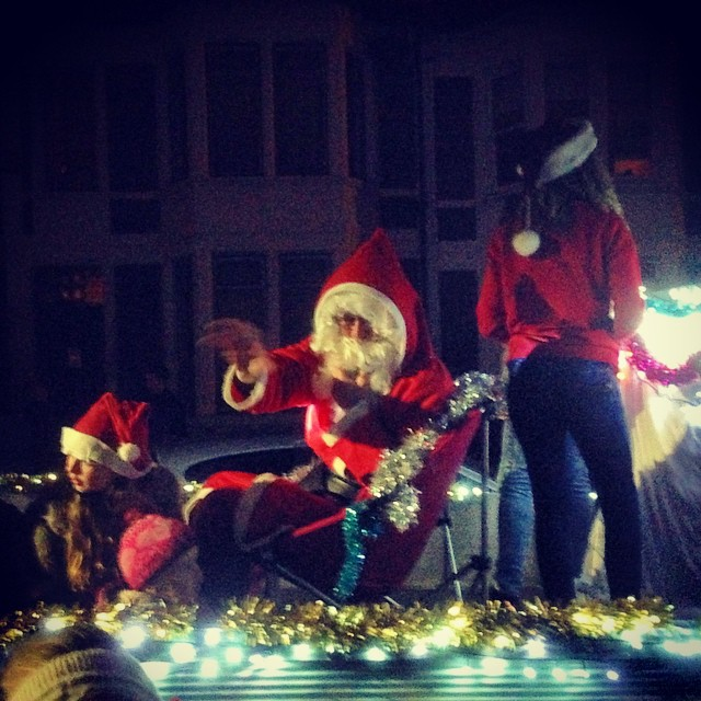 Father Christmas doing the rounds in Bristol