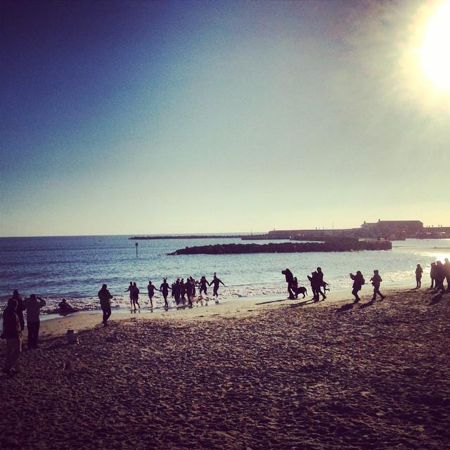 Lyme Regis swimmers