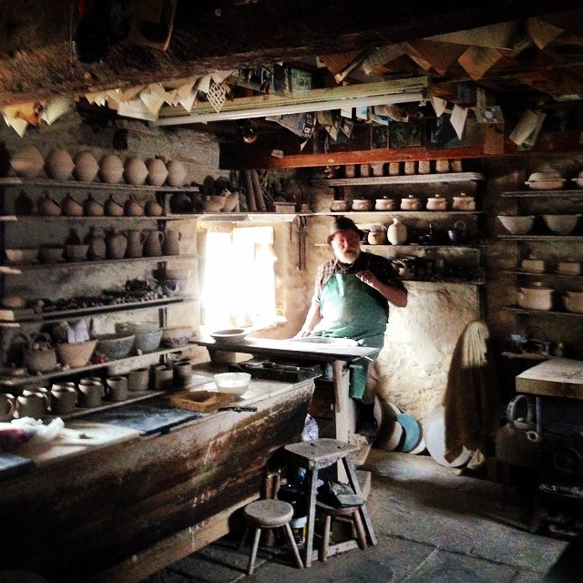 John Leach in his studio at The Pottery #johnleachpottery #studio