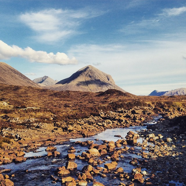 The Red Cuillins #redcuillins #skye