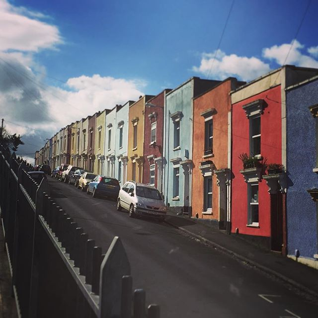Colourful Houses, Windmill Hill, Bristol #colour #colourfulhouses #windmillhill #bristol #terracehouses