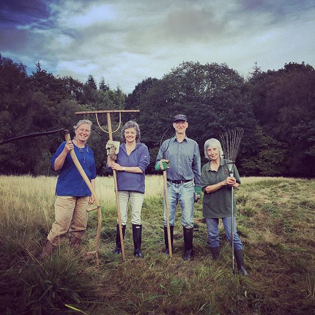 The team are getting ready to cut the Monmouthshire Meadows #countryfile #monmouthshiremeadows
