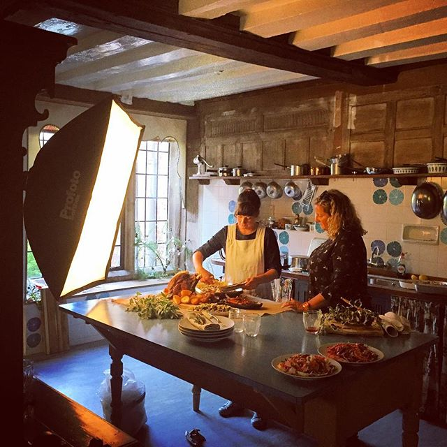 Shooting Christmas Lunch for @bbccountryfilemagazine with @5oclockapron at Greys Court #foodphotography #christmas #greyscourt #nationaltrust #countryfile