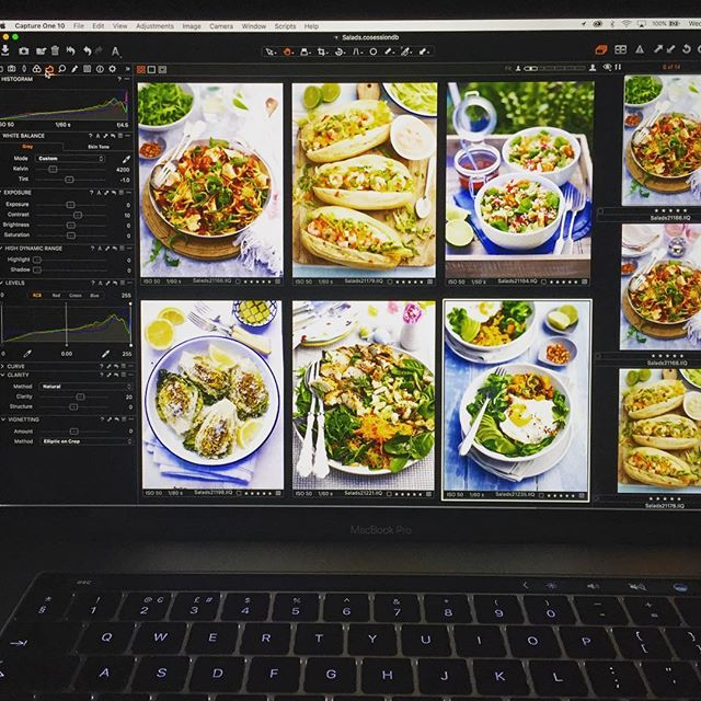The editing process soon to begin for @makemoreofsalad @tinyteaps @pamlloydpr @fruitandveggirl @rosiegodwin #foodphotography #makemoreofsalad #pamlloydpr
