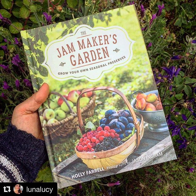 #Repost @lunalucy with @repostapp・・・Bit of relaxed light reading for later when the rain arrives  Looking forward to reviewing The Jam Maker's garden by Holly Farrell (gorgeous photography by @jasoningram) and getting some ideas of which fruit bushes I should be filling the last bit of my strawberry and raspberry patch with!