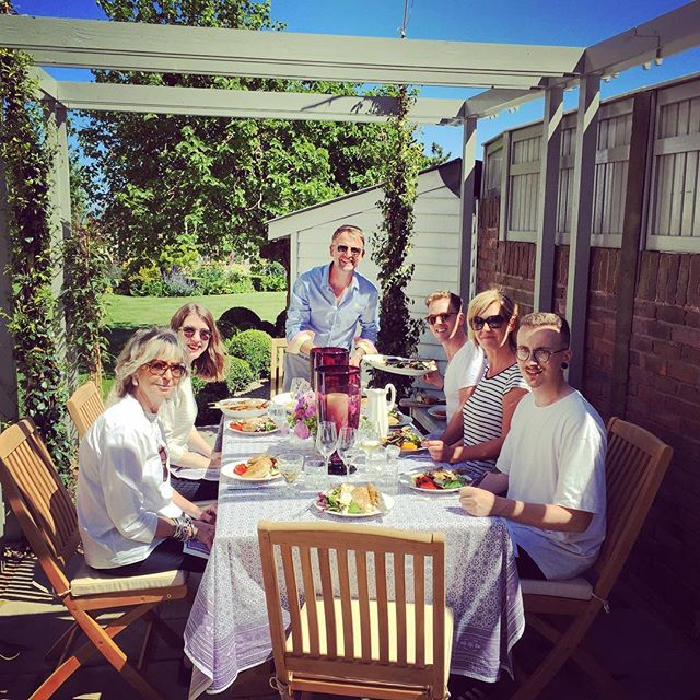 Today's delicious shoot lunch with @liz_elliot_hg @stephenrichardsonpope @andrew_buchanan @georgebale for @houseandgardenuk