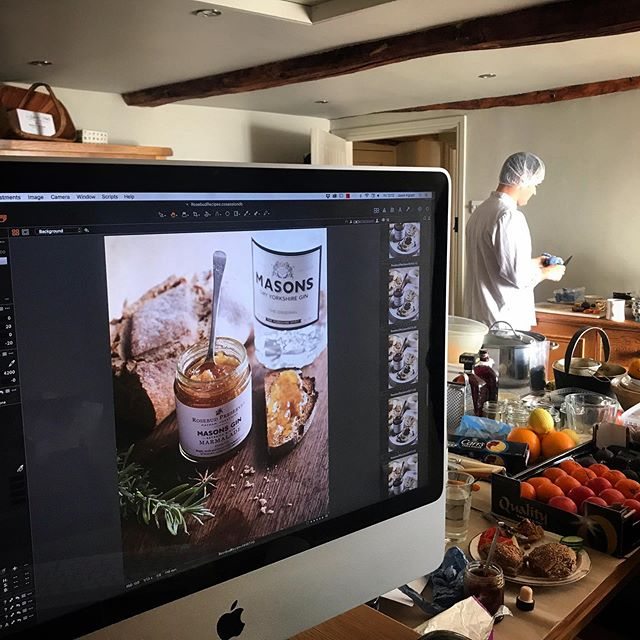Behind the scenes at yesterday's busy shoot for @rosebudpreserves , such a pleasure working with you guys and such amazing new preserves #foodphotography #foodphotographer #rosebudpreserves #preserves #jams #marmalade #artisinal #yorkshire #tasteofyorkshire